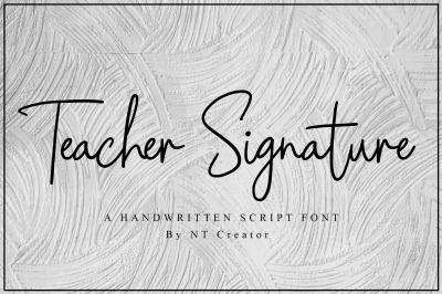 Teacher Signature