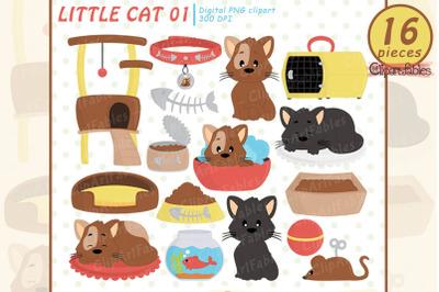 Cute CAT clipart, Kitten clip art, Kitty, Kitties Digital clipart