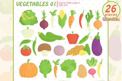 VEGETABLES clipart, Veggie, Healthy food clip art, PNG food icons