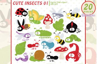 Cute INSECT clipart, Beetle, Bug clip art, Digital clipart