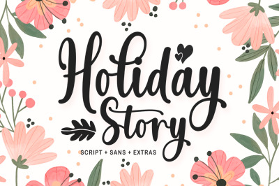 Holiday Story Font Duo