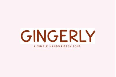 Gingerly - Casual Handwritten Font
