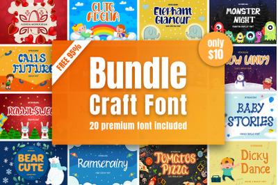 Crafting Fonts Bundle