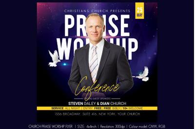 Church Praise Worship Flyer