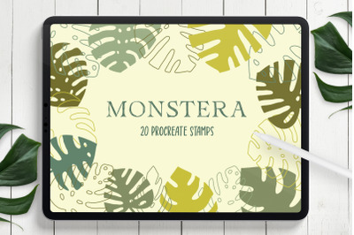 Monstera Leaves Procreate Stamps
