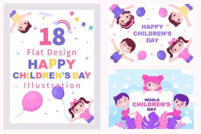 18 Happy Children's Day Illustration