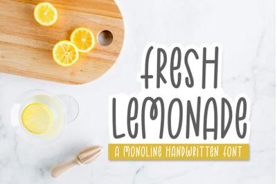 Fresh Lemonade | Monoline Font