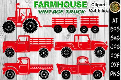 Farmhouse Vintage Truck SVG Cut Files