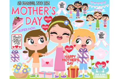 Mother's Day Clipart - Lime and Kiwi Designs