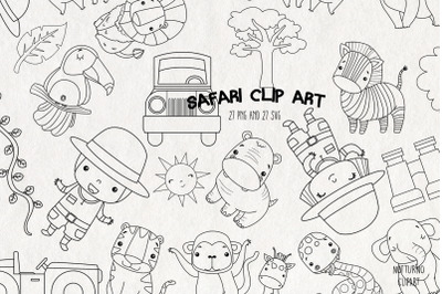 Safari Digital Stamps SVG | Set of 27
