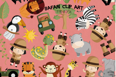 Safari SVG Clipart | Set of 27
