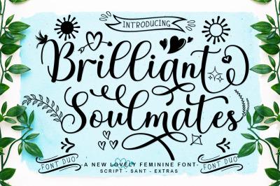 Brilliant Soulmates Font Duo Plus Extras