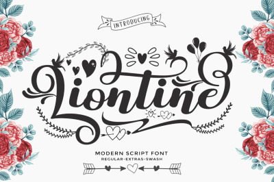 Liontine Script - Swash With Extras -