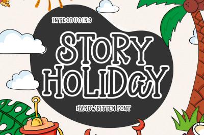 Story Holiday - Handwritten Font