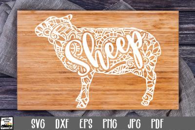 Sheep SVG File - Sheep Mandala SVG