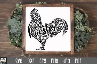 Rooster SVG File - Rooster Mandala SVG