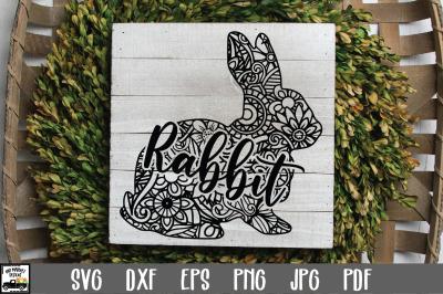 Rabbit SVG File - Rabbit Mandala SVG
