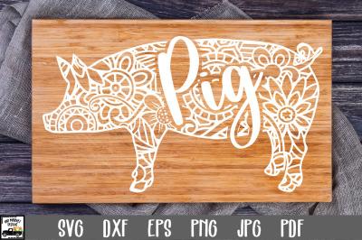 Pig SVG File - Pig Mandala SVG