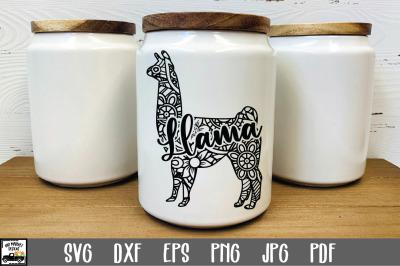 Llama SVG File - Llama Mandala SVG