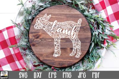 Lamb SVG File - Lamb Mandala SVG