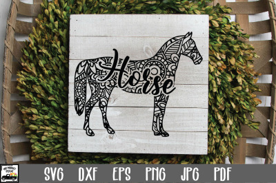 Horse SVG File - Horse Mandala SVG