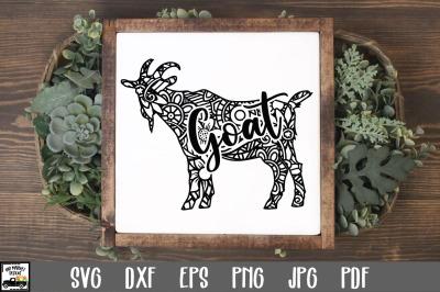 Goat SVG File - Goat Mandala SVG