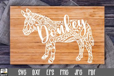 Donkey SVG File - Donkey Mandala SVG