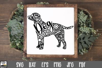 Dog SVG File - Dog Mandala SVG