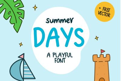 Summer Days Playful Font