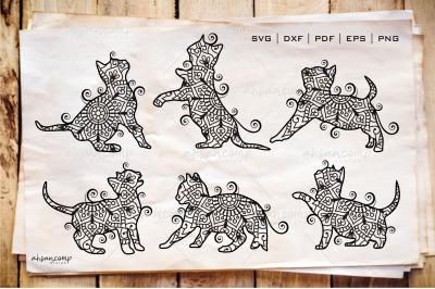 Cat Zentangle - Cat Doodle Art SVG