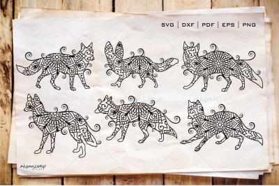 Fox Zentangle - Fox Doodle Art SVG