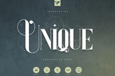 Unique - Decorative Serif Font