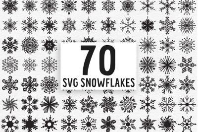 Snowflake SVG Bundle, Snowflake Clipart Bundle, Snowflakes