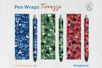 Terrazzo Texture Pen Wraps PNG File Set