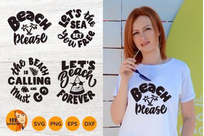 Summer quote bundle. Beach svg, t-shirt design