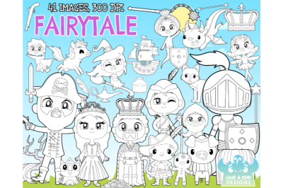 Fairytale Digital Stamps - Lime and Kiwi Designs