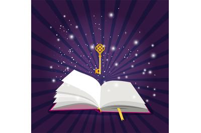 Magic open book