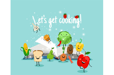 Cooking book illustration