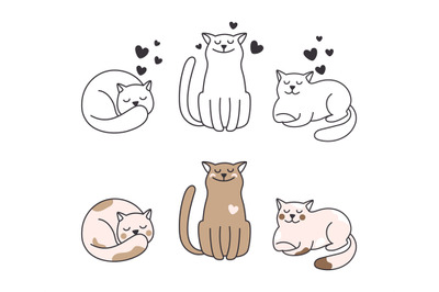 Doodle cats collection