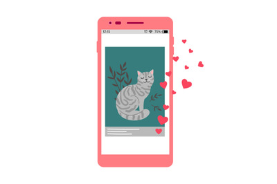 Social media love cat post