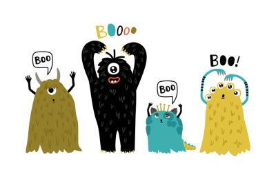 Cute furry monsters