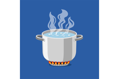 Cartoon pan on fire