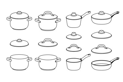 Pans sketch icons