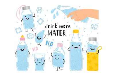 Drink more water concept