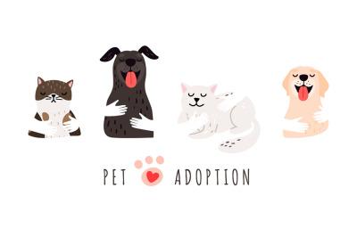Pet adoption illustration