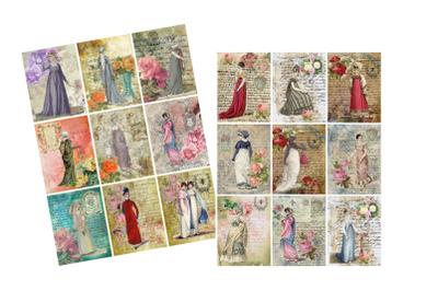 Jane Austen Regency Fashion Journal Tags