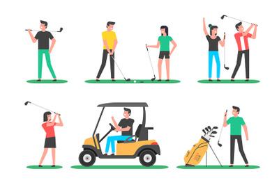 Golf player + pattern
