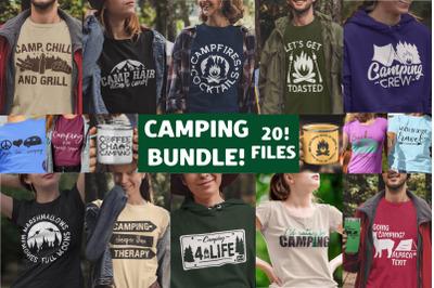 Camping Svg Bundle, Camping Design File