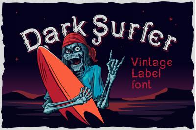 Dark surfer - vintage label font