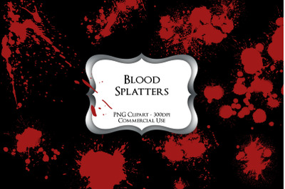 Blood Splatters PNG Clipart